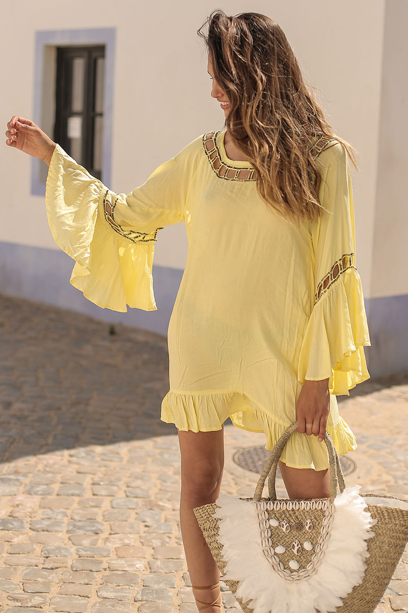 Beach Fashion Only Anguilla Kaftan Geel