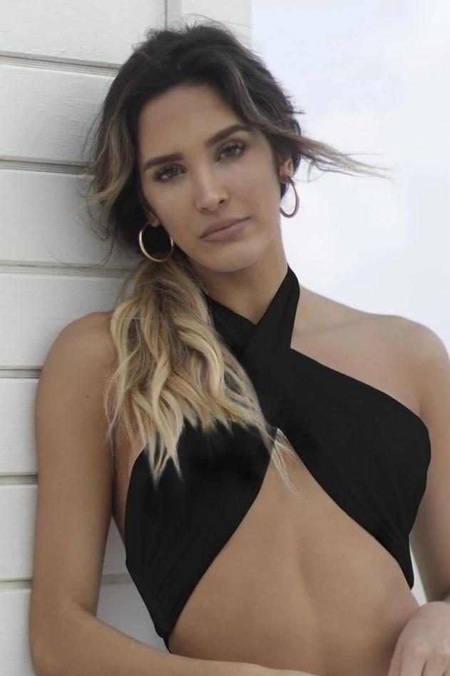 Almamia Black Strapless Bikini Top