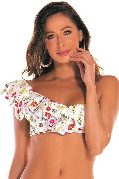 Milonga Sienna One Shoulder Bikini -small-Multicolour
