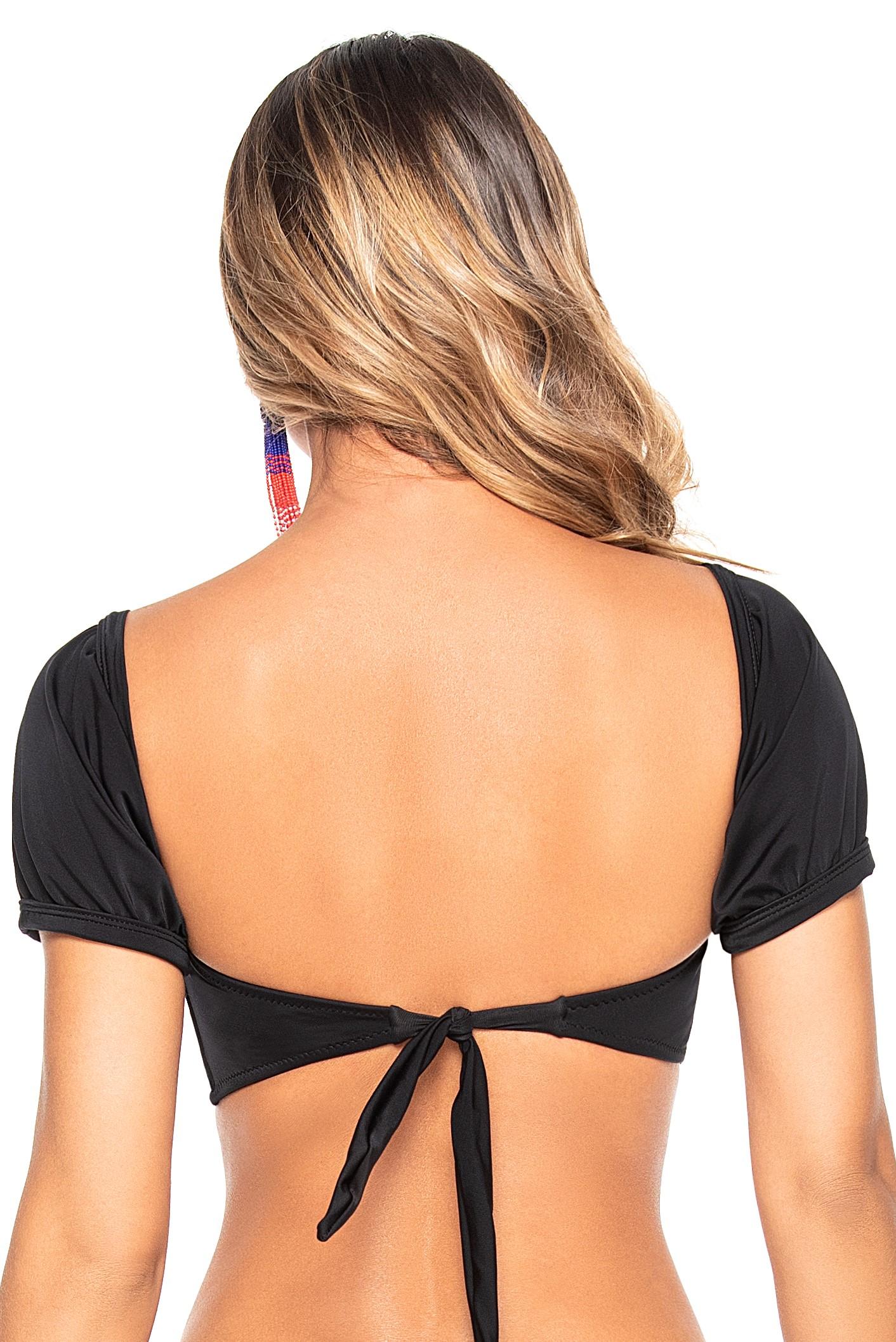 Phax Zwarte Sleeve Bikini Top