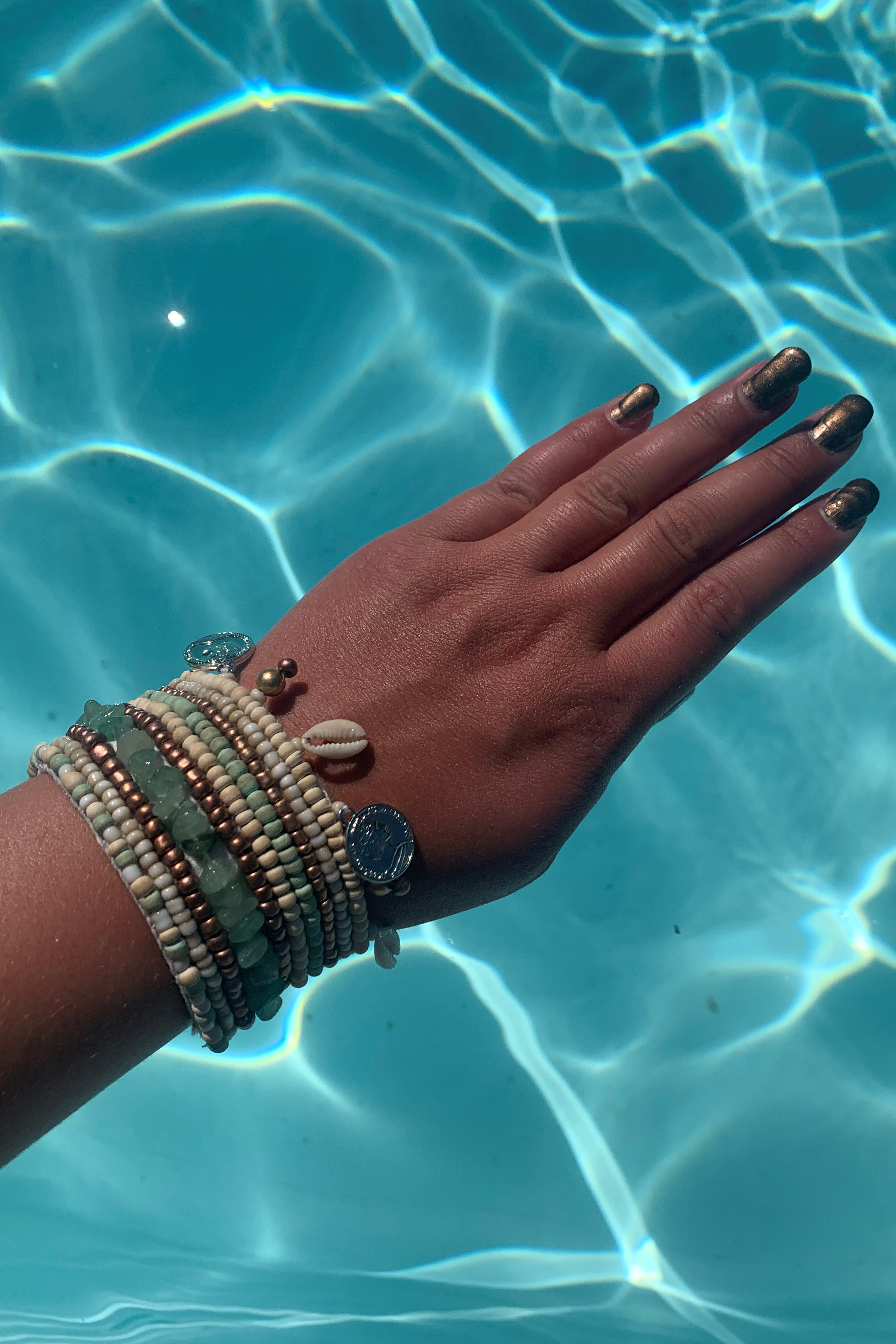 Hot Lava Armband Indy Smaragd