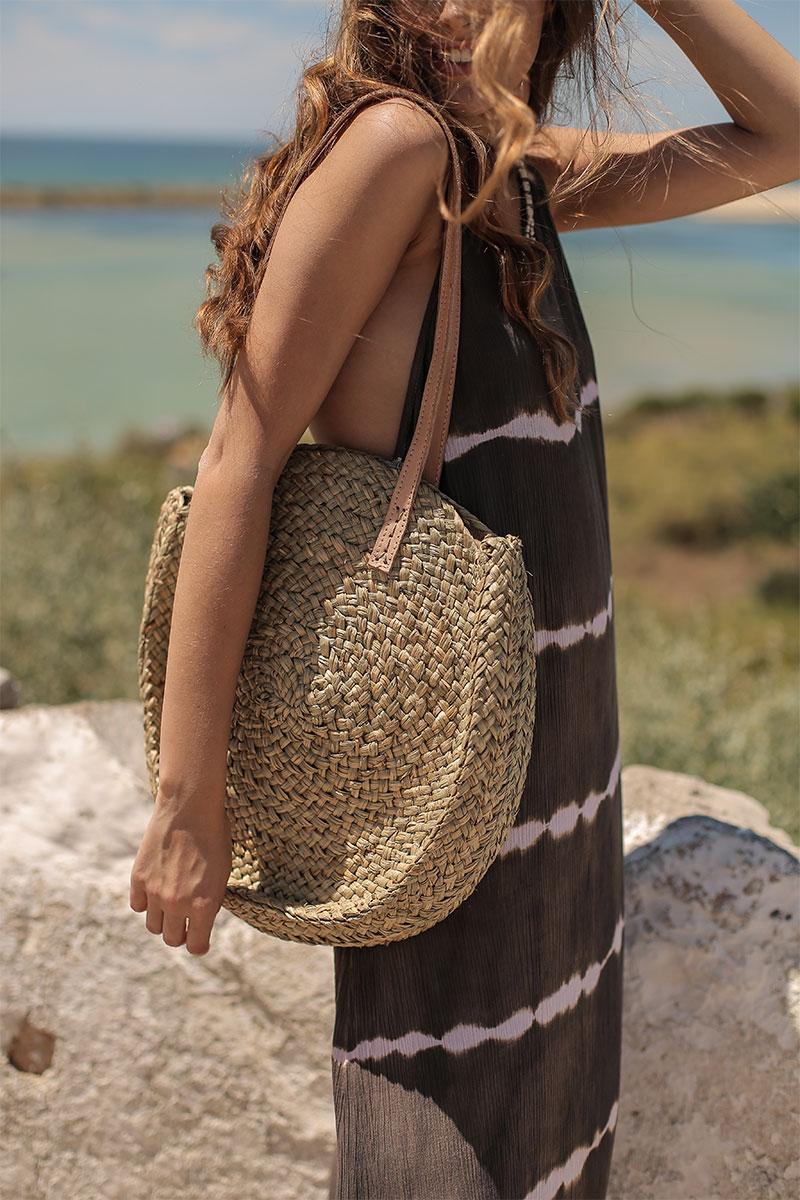 Beach Fashion Only Tie Dye Lange Zomer jurk bruin