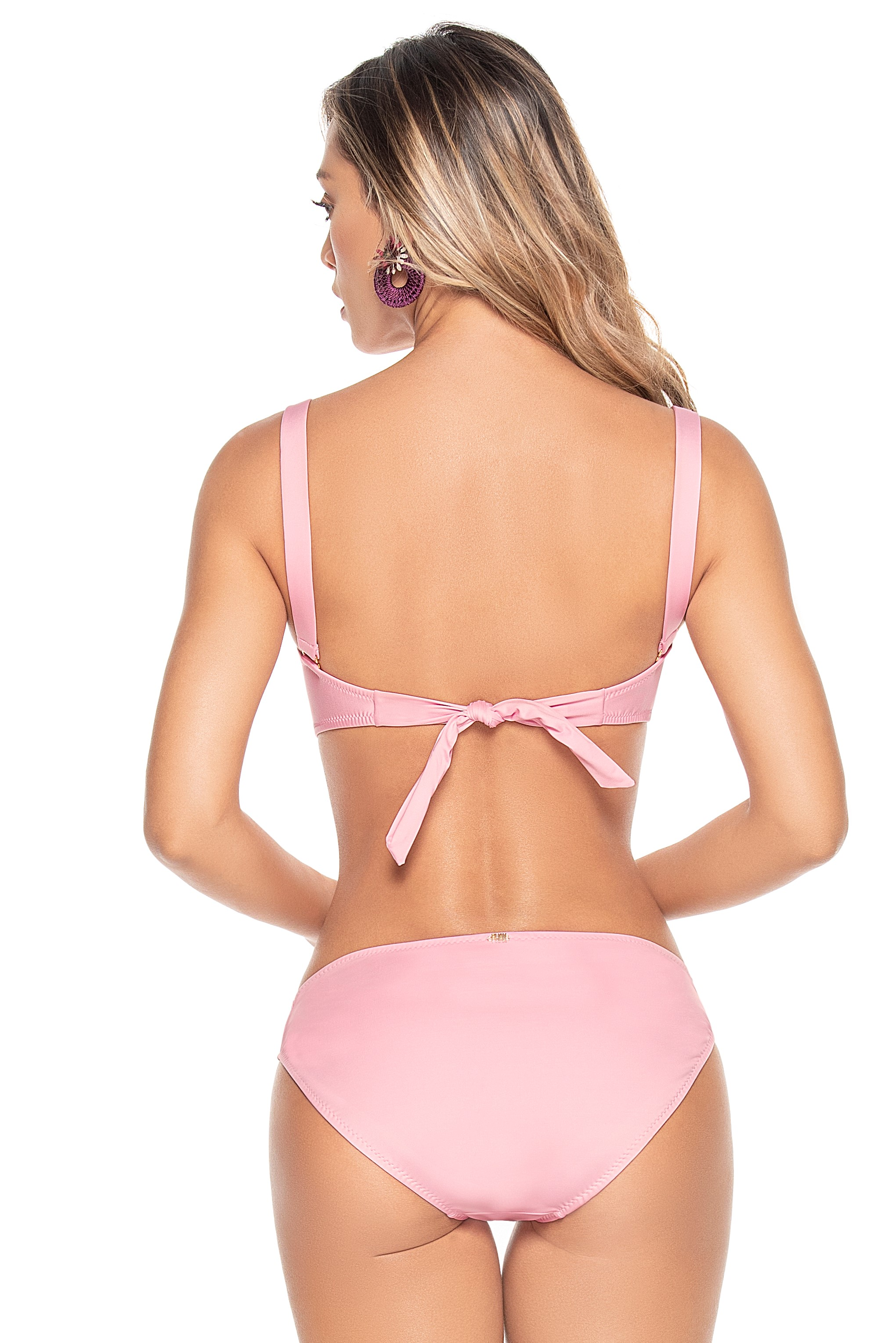 Phax Light Pink Strapless Wire Bikini