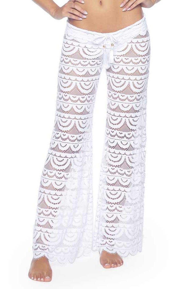 Pilyq Swim Water Lily Malibu Pants White