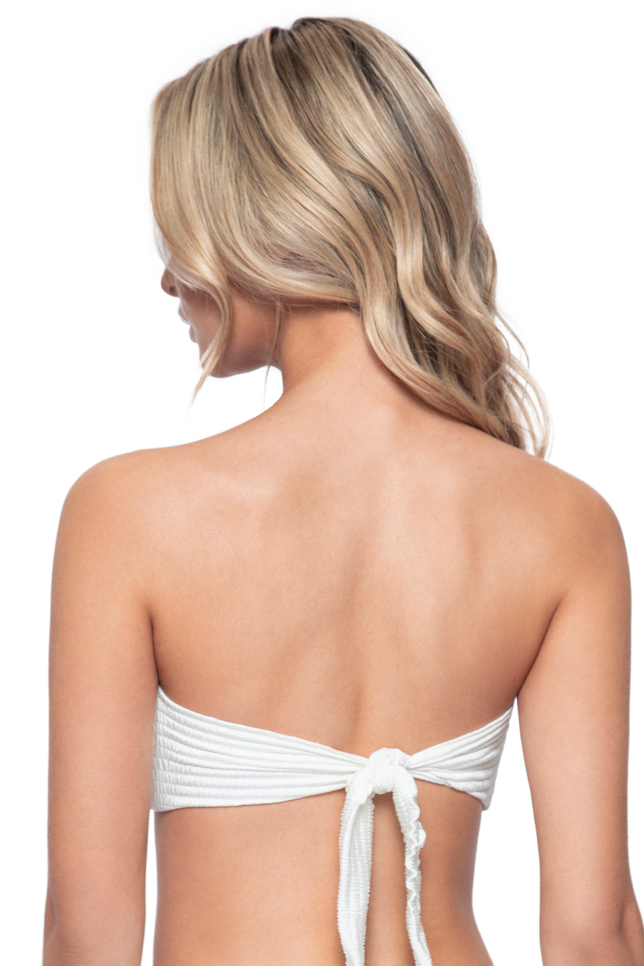 Pilyq Swim Pure Strapless Bikini Top Ivory