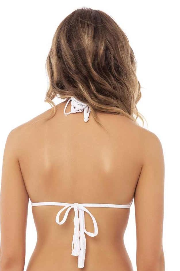 Pilyq Swim Water Lily Isla Triangel Bikini Top Wit
