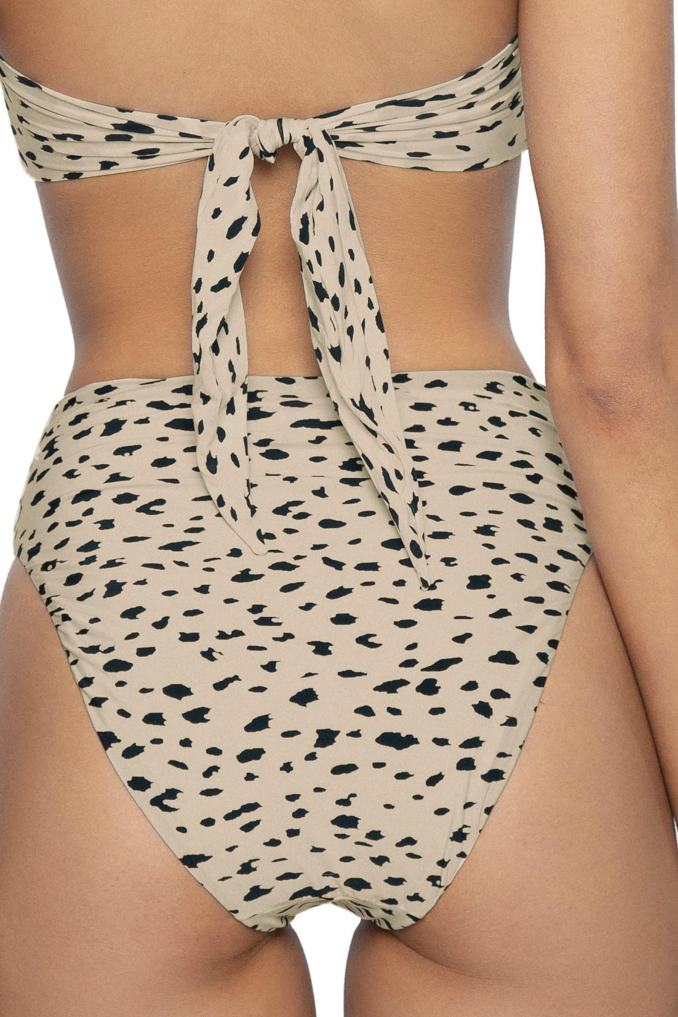 Pilyq Swim Wild Heart Hoge Taille Bikini Broek Dierenprint