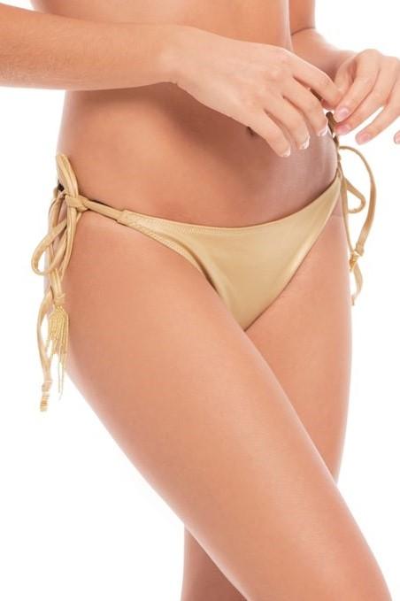 Milonga Palette Bas de bikini noué sur le côté doré