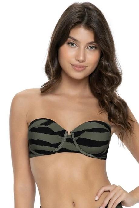 Pilyq Swim Tiger Lily Nova Bandeau Bikini Top