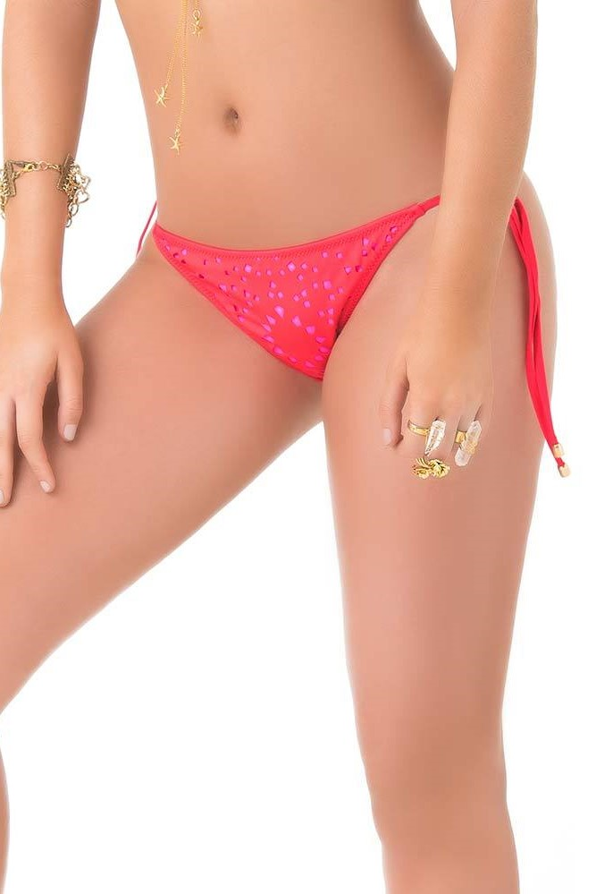 Phax Rolling Stones Tie Side Bikini Bottom
