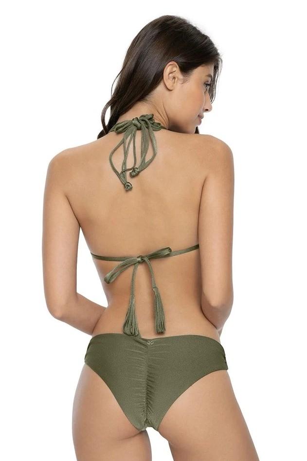 Pilyq Swim Moss Isla Tri Bikini Khahi Green