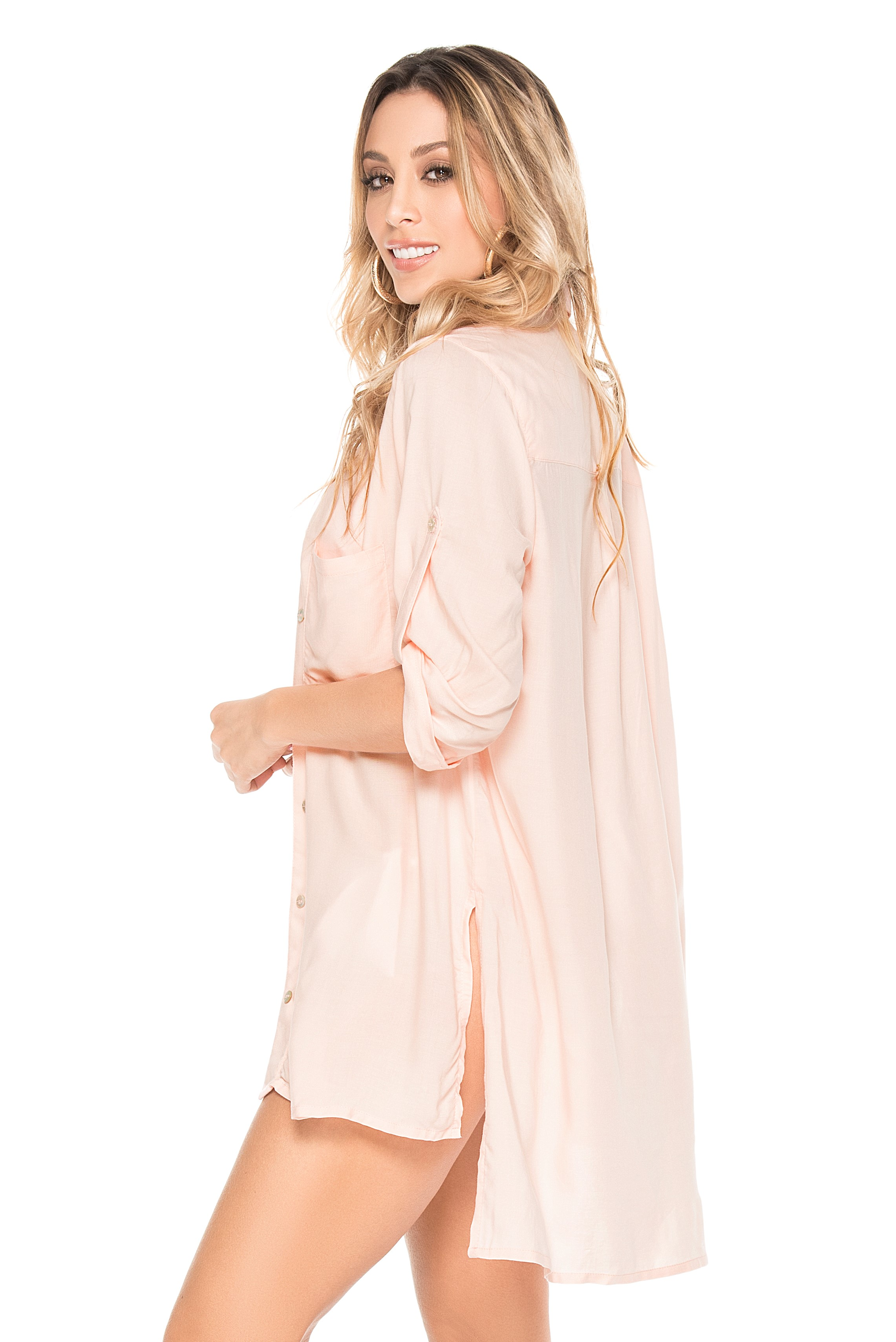 Phax Romantic Bay Shirt Light Pink -large-Pastel Roze