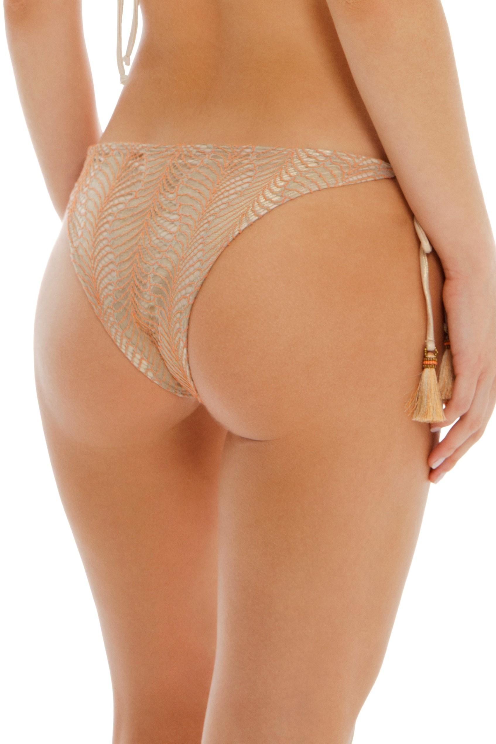 Cosita Linda Bohemian Traveler Tie Side Bikini Bottom Gold