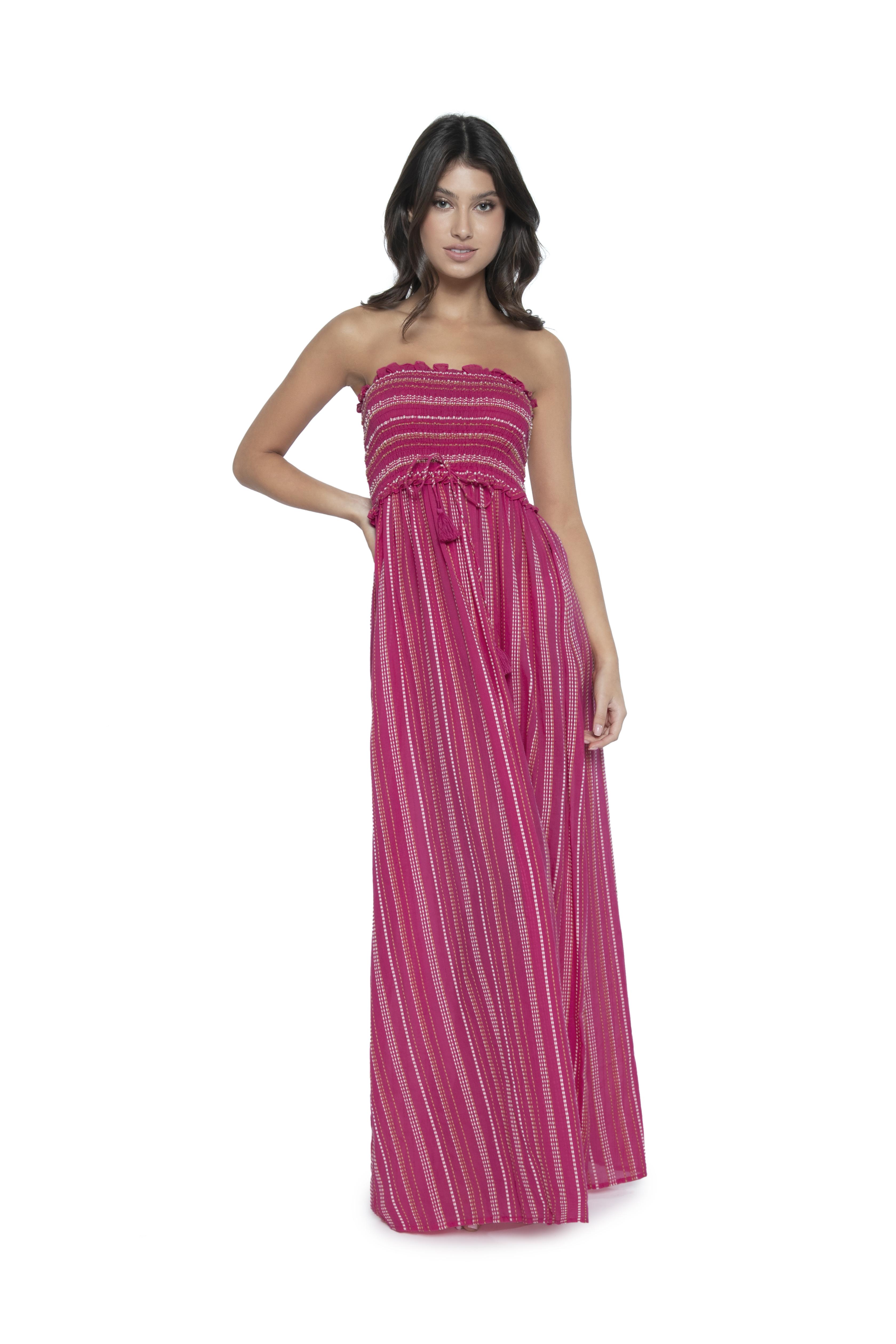 Pilyq Swim Pink Topaz Stephanie Maxi Dress