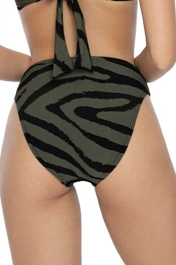 Pilyq Swim Tiger Lily Nova High Waisted Bikini Bottom