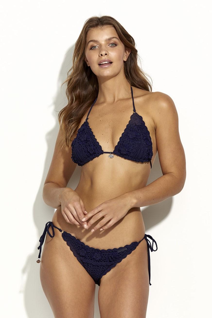 Panos Emporio Kandia Crochet Bikini Navy Blue
