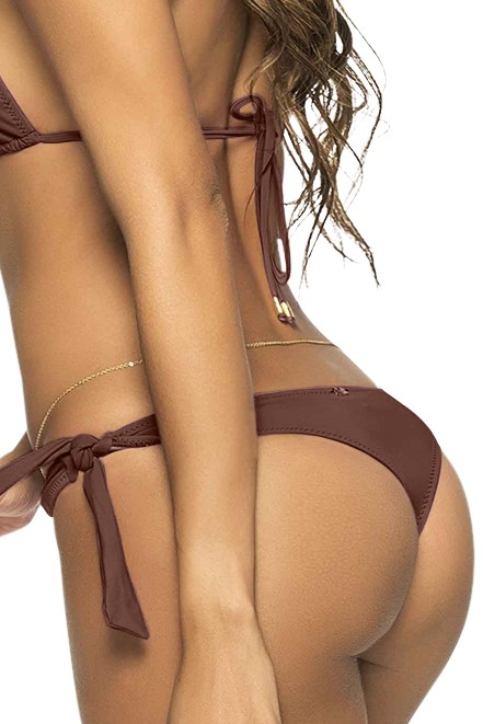 Phax Color Mix String Bikini Bottom Brown