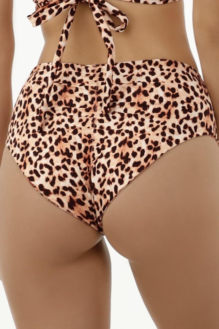 Milonga Guepardo Omkeerbare Slangenprint en Luipaardprint Hoge taille Bikini Broekje