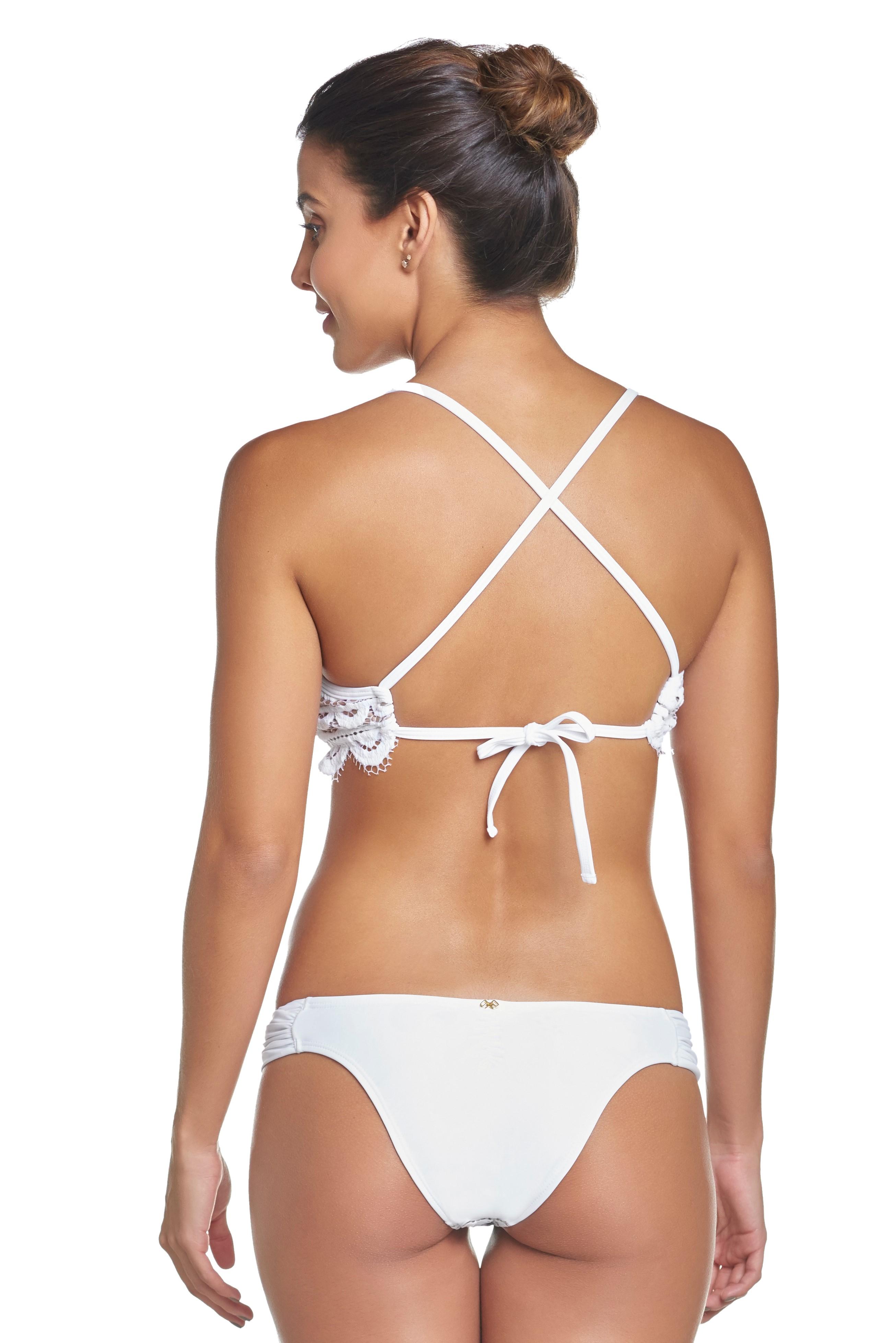 Pilyq Swim Water Lily Kanten Bralette Bikini Wit