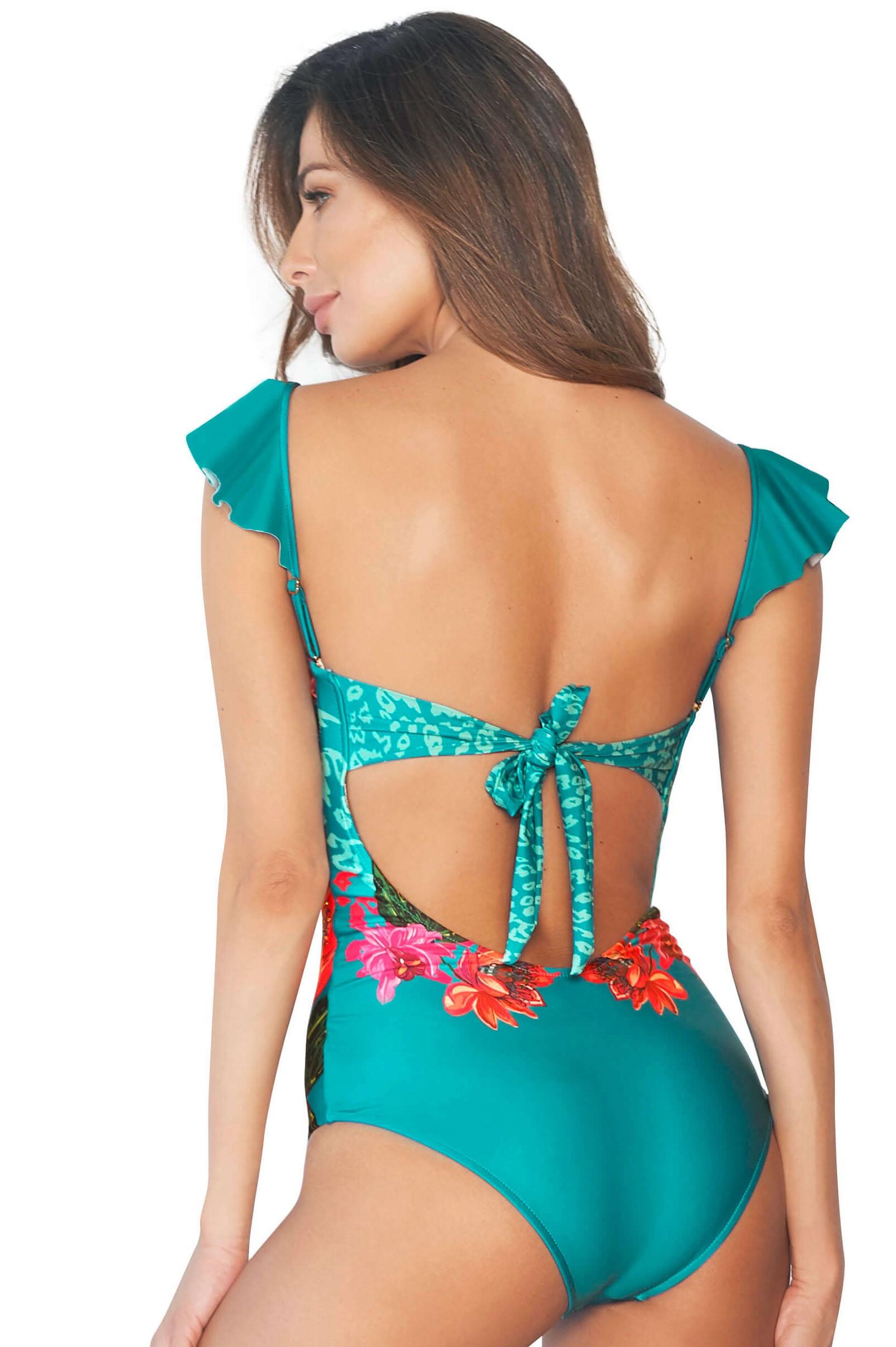 Cosita Linda Flora Luxury Swimsuit-large-Multicolour