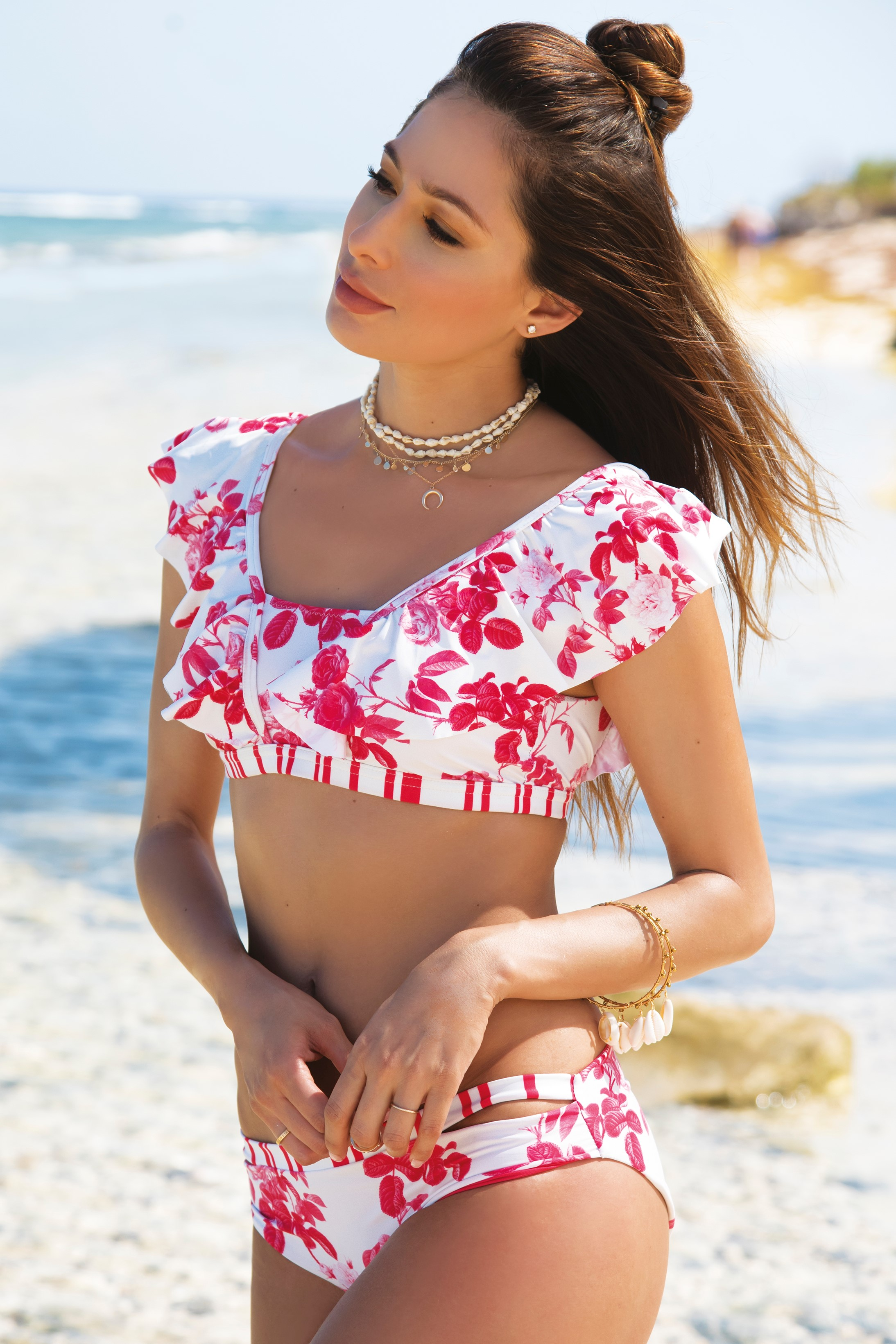 Milonga Camelia Ruffled Bikini