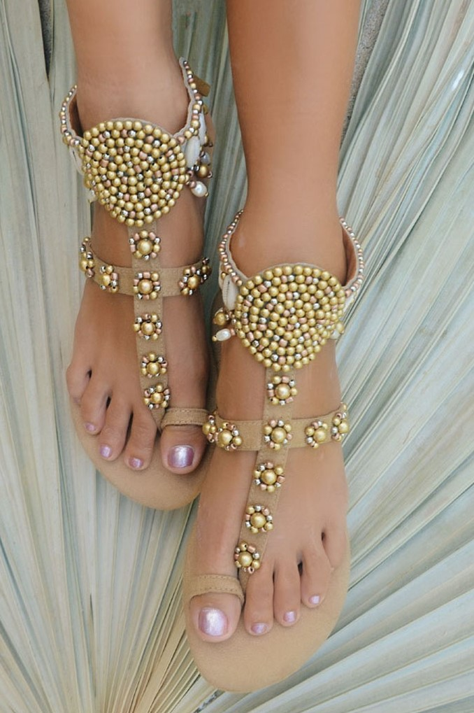 Hot Lava Sandals Sol Gold Silver-38-Goud