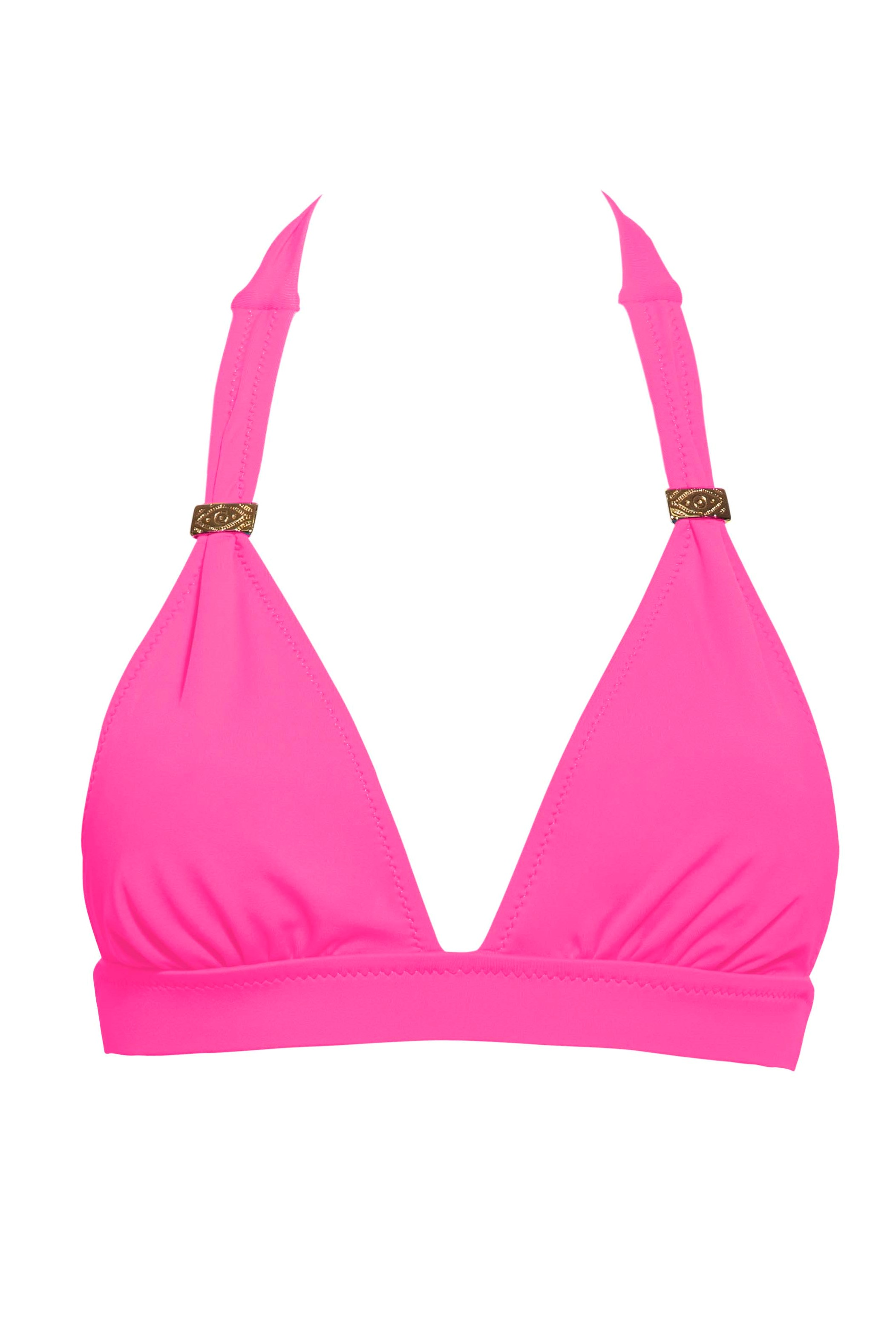 Phax Color Mix Halter Bikini Top Neon Pink-extralarge-Neon Roos