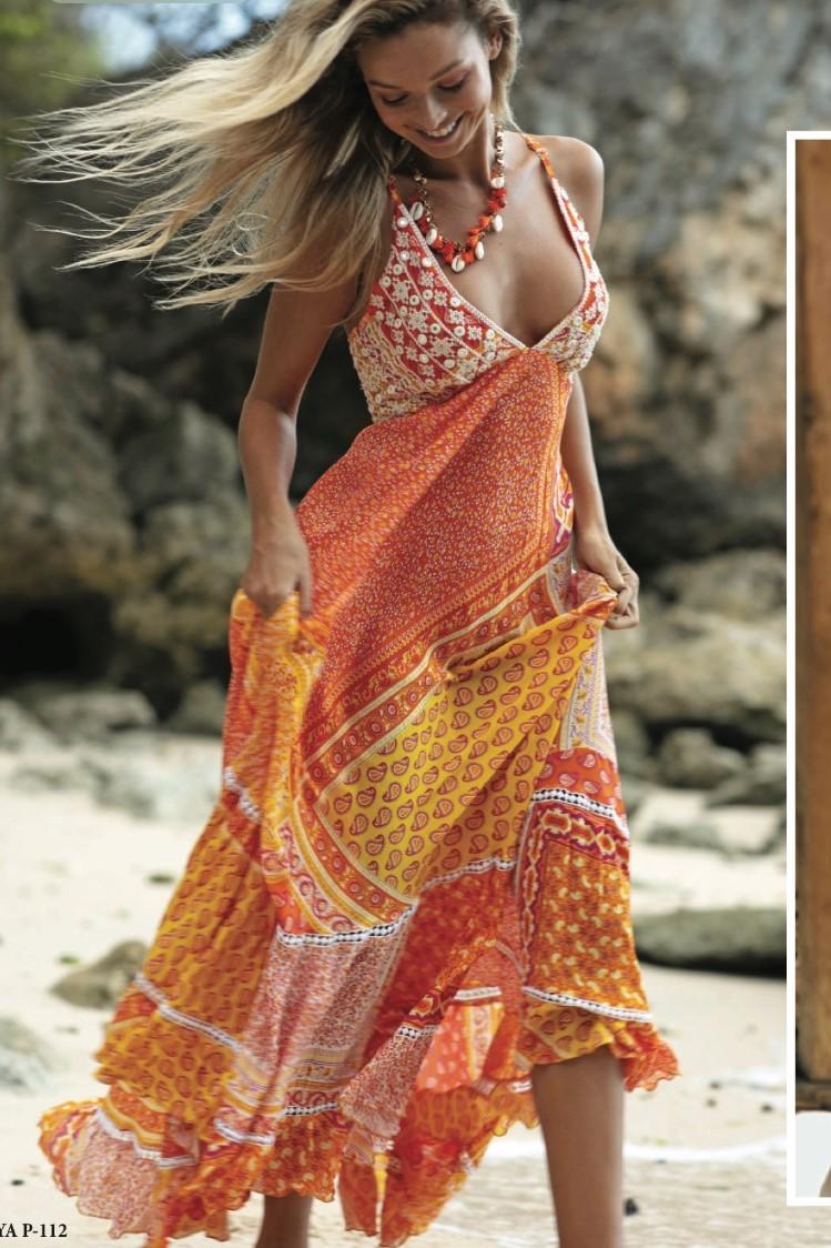 Miss June Long Maxi Dress Sanjaya-Uniek-Multicolour