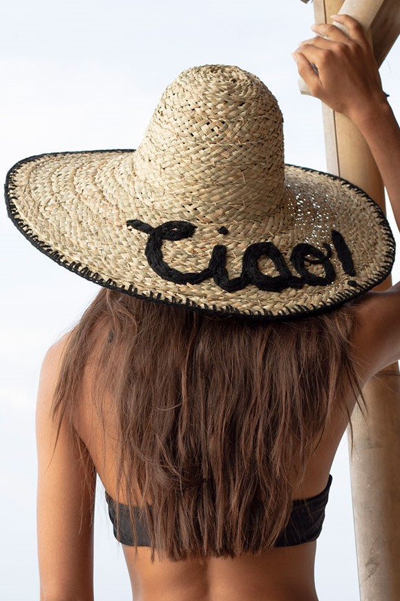 Beach Fashion Only Seagrass Hat Ciao Black