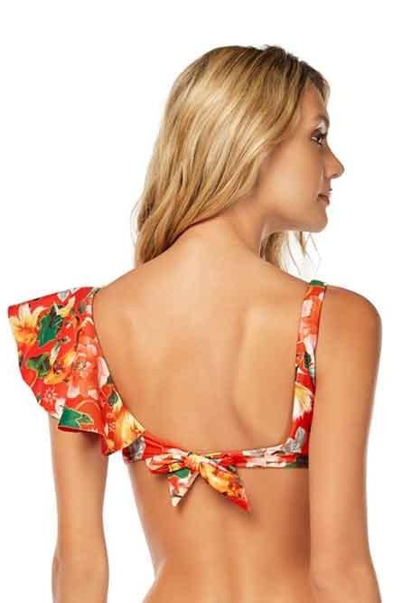 Cosita Linda Bloom Ruffle Shoulder Bikini Top