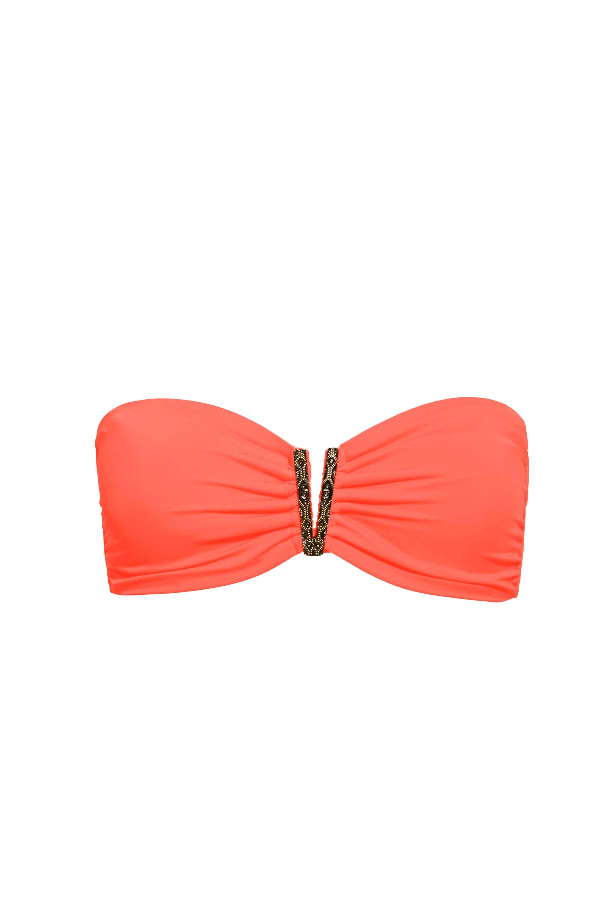 Phax Color Mix Bandeau Bikini Top Orange Fluo