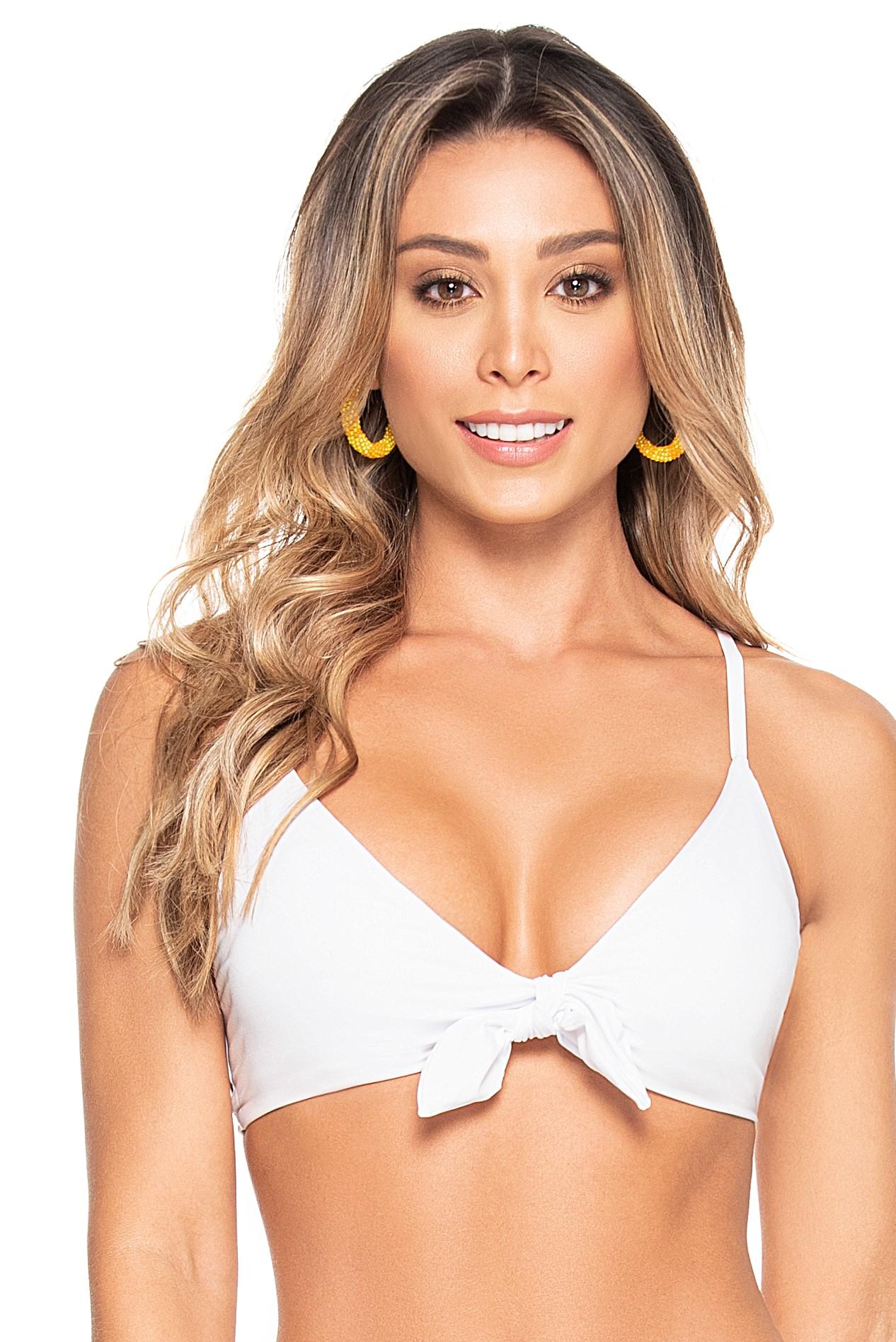 Phax White Triangle Bikini Top Macaron