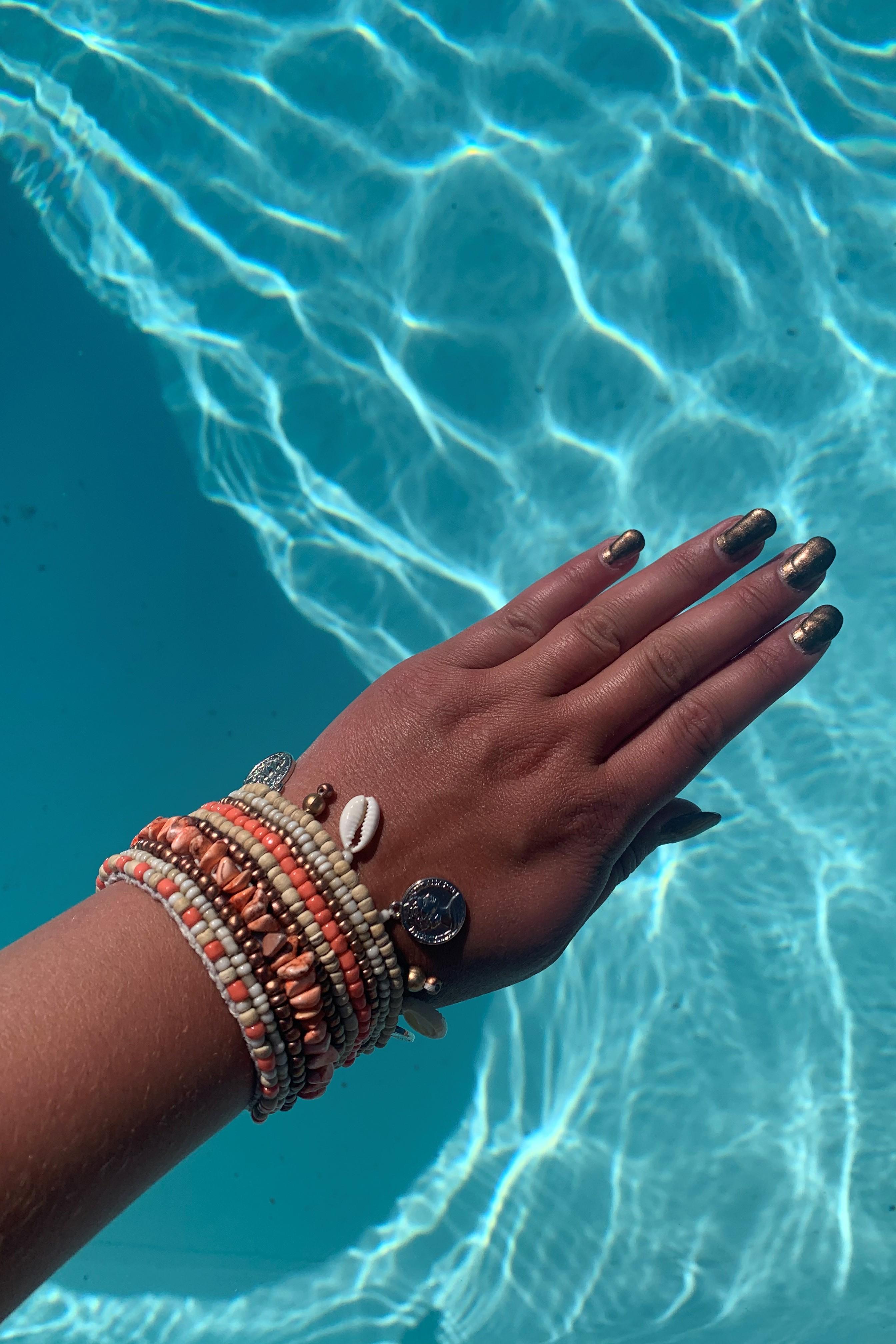Hot Lava Indy Bracelet Coral -Uniek-Koraal