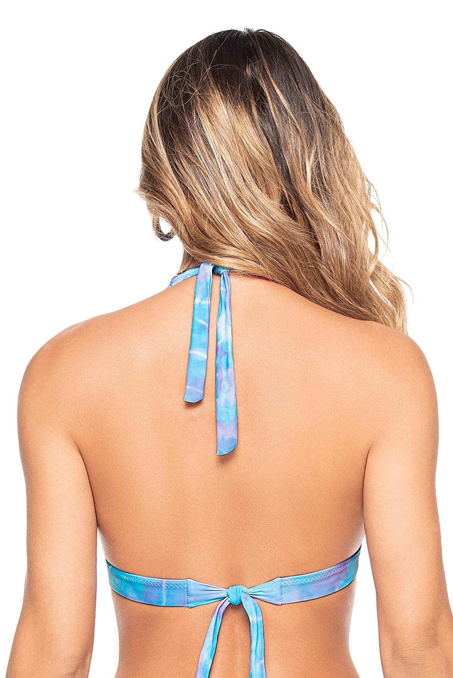 Phax Bella Iceland Blue Tie Dye Halter Bikini Top