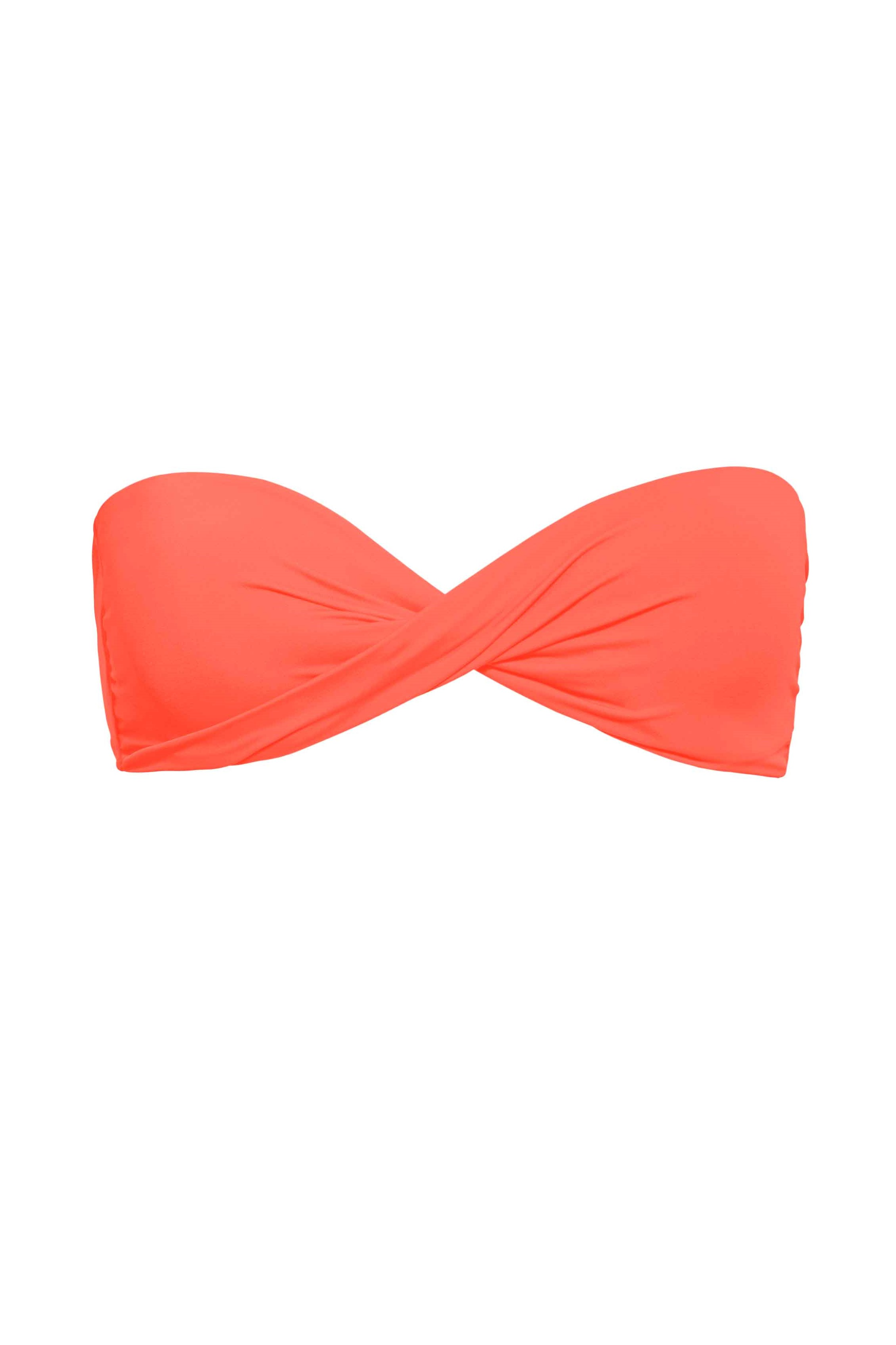 Phax Color Mix Twisted Bandeau Bikini Neon Oranje-small-Neon Oranje