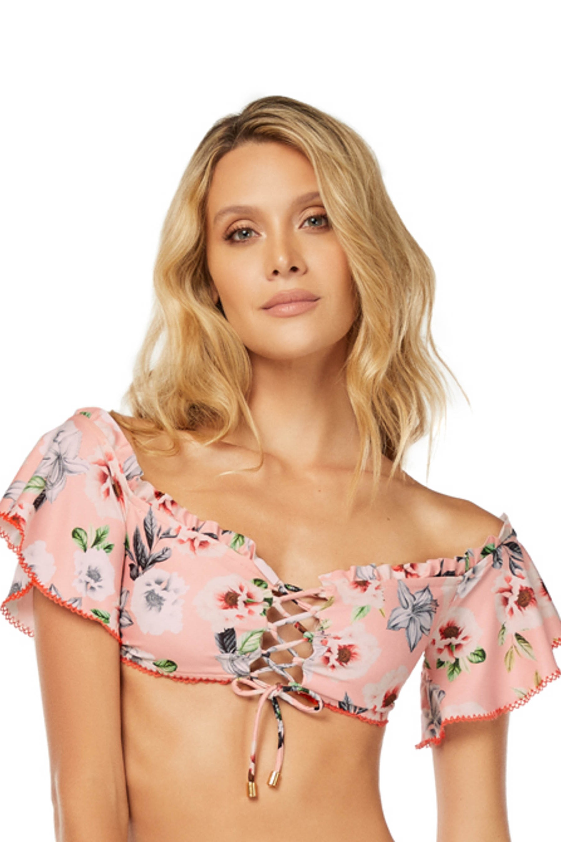 Cosita Linda Still Garden Off The Shoulder Bikini Top