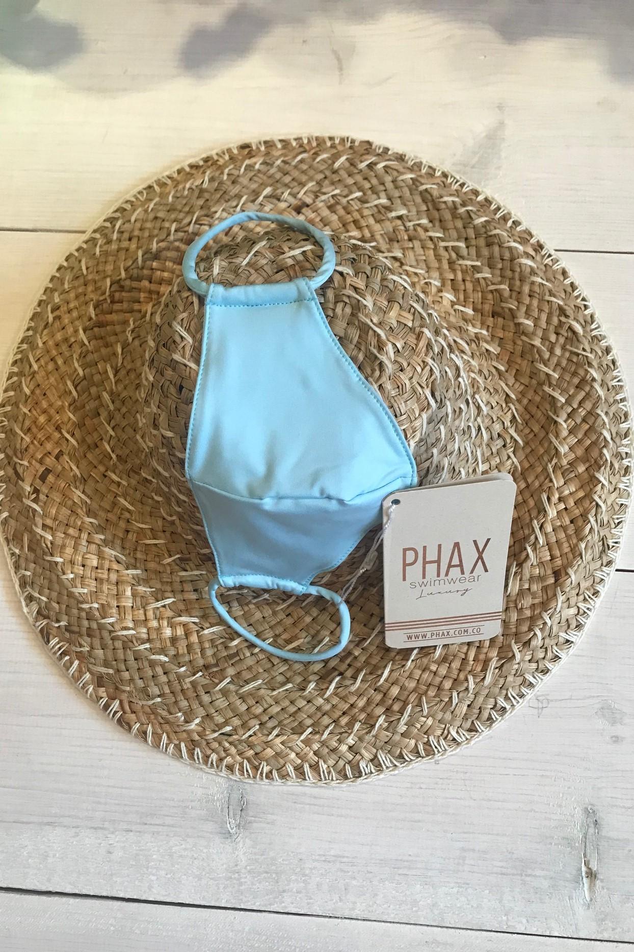 Phax Trendy Wasbaar Mondkapje Licht Blauw