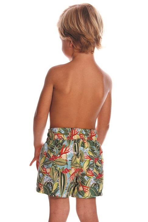 Milonga Oasis Matching Kids Swimshorts -4 jaar-Multicolour