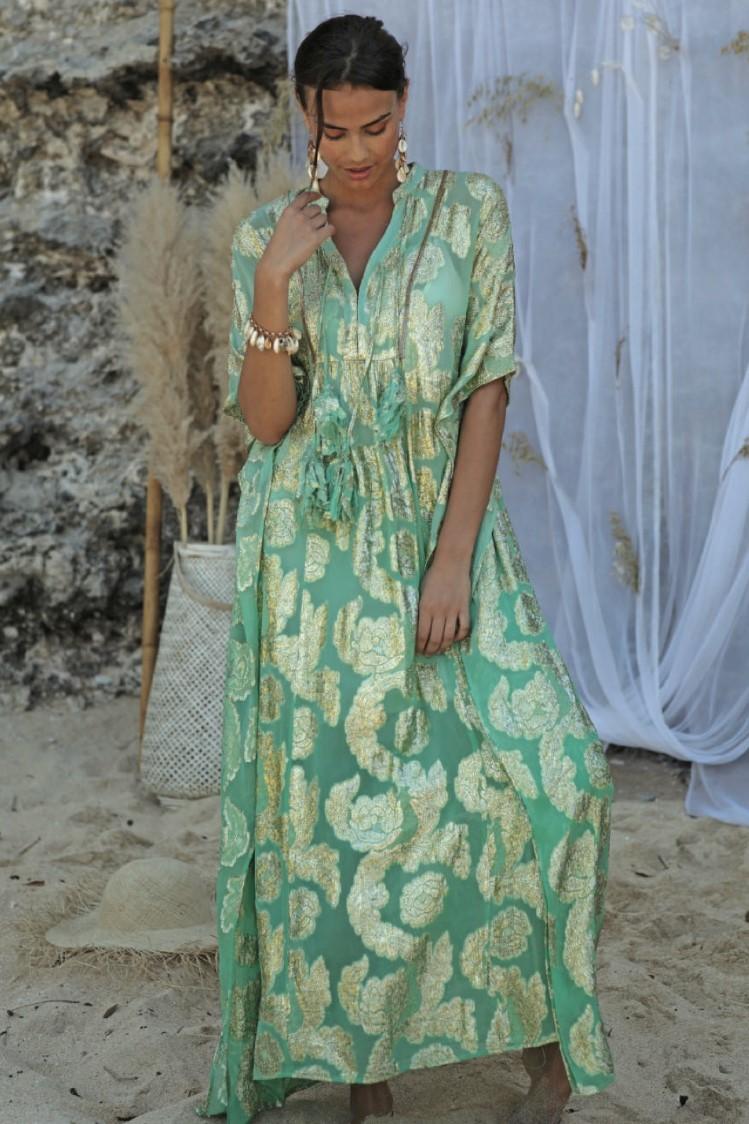 Miss June Long Dress Bodhi-Uniek-Blauw