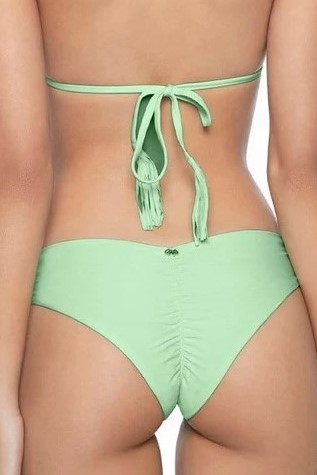 Pilyq Swim Aloe Scrunch Bikini Bottom