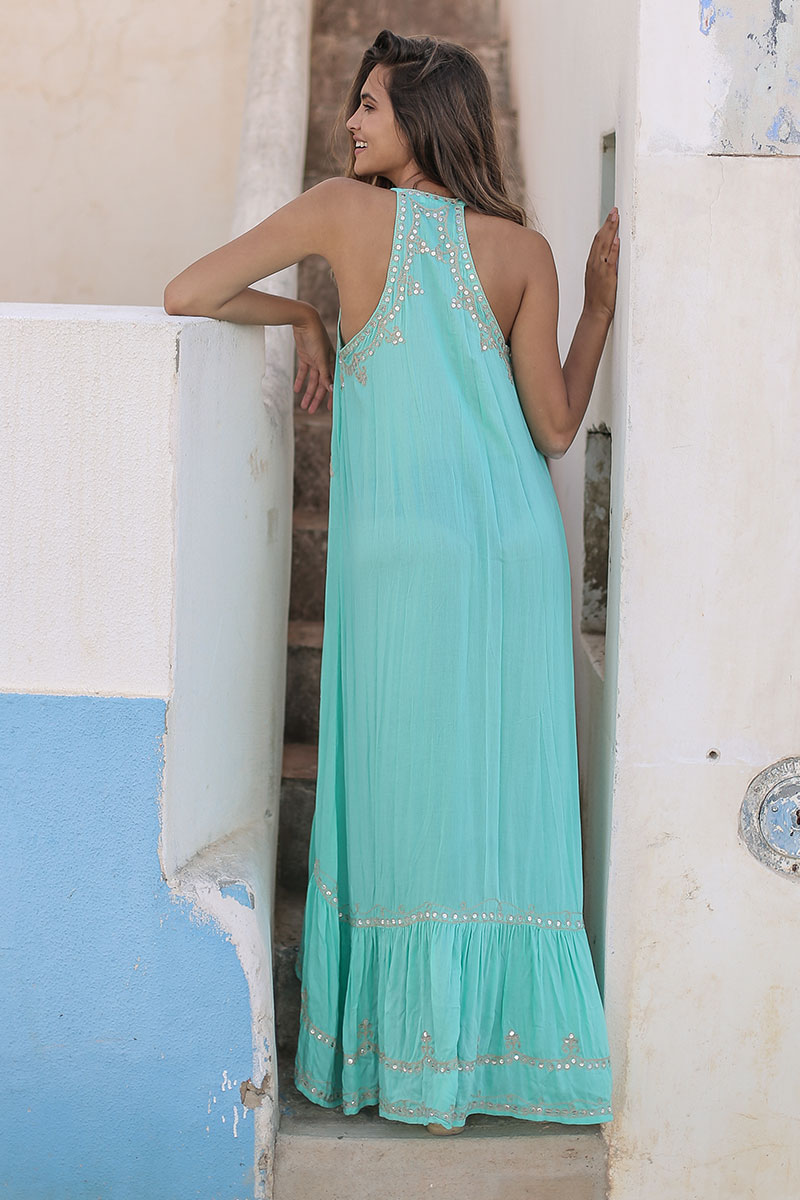 Beach Fashion Only Curaçao Jurk Turquoise