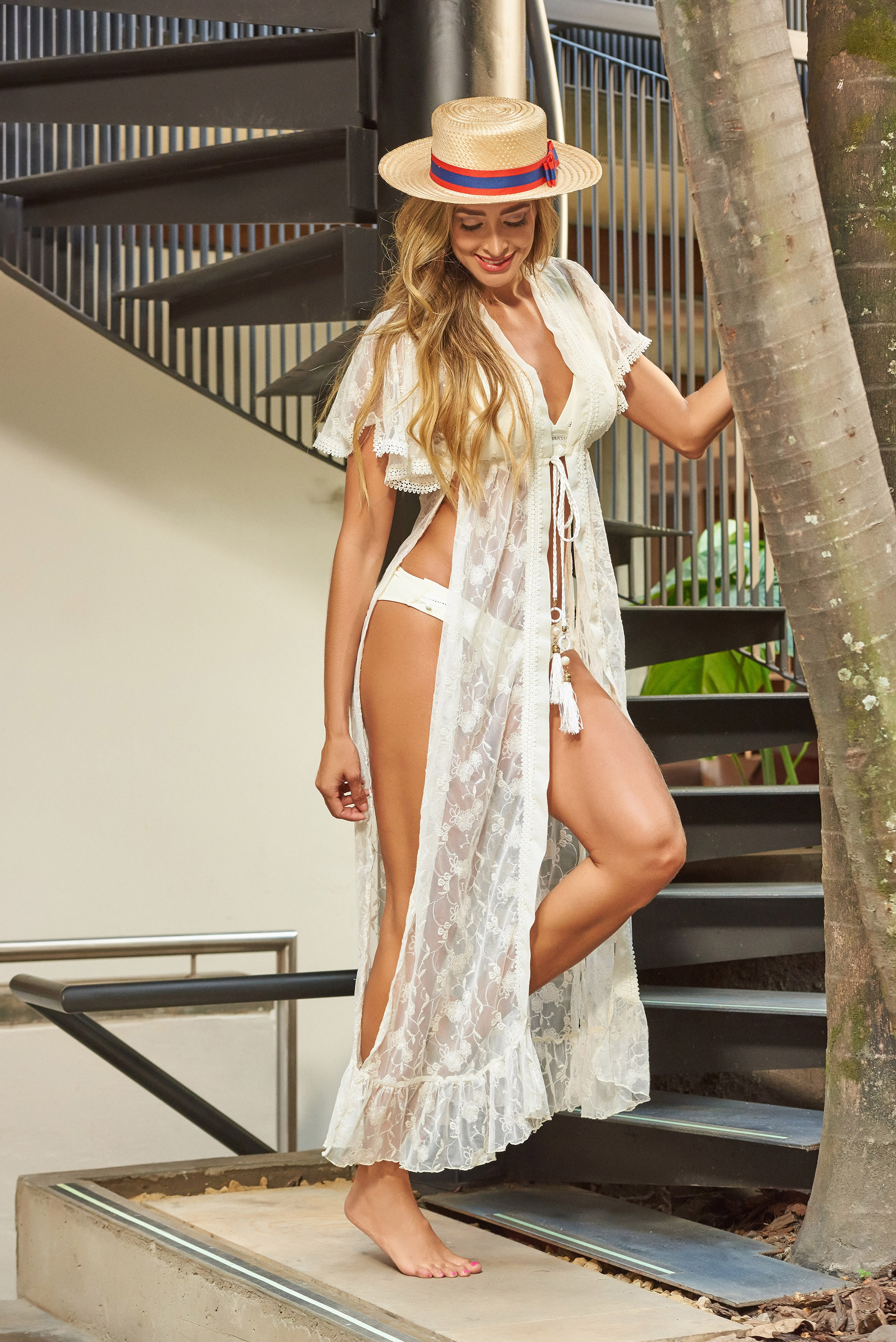 Beach Fashion Only Romantic Beach Kaftan Ivory