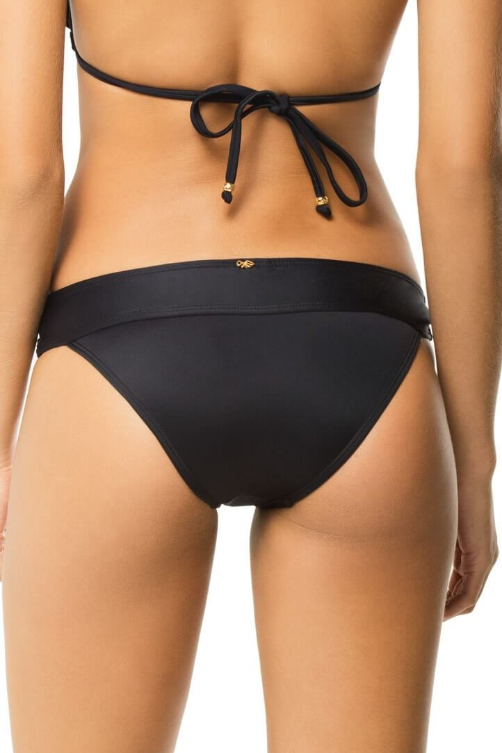 Pilyq Swim Midnight Lace Bikini Bottom Black