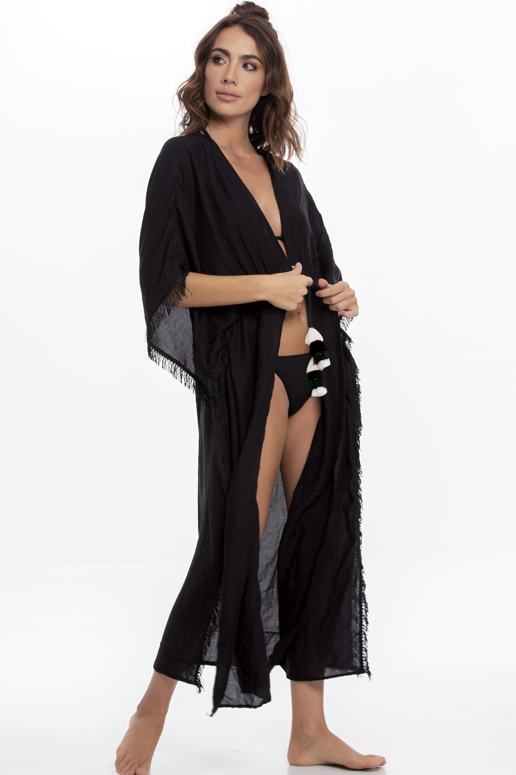 Milonga Palette Long Beach Cover Up Black