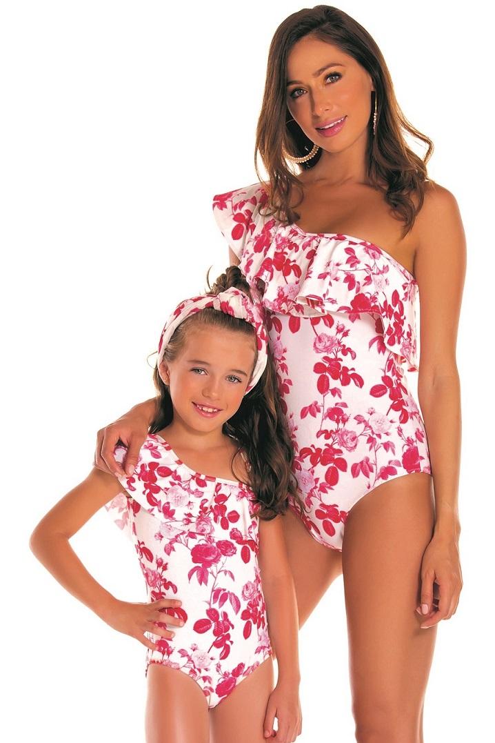 Milonga Camelia Mum Daughter Swimsuit