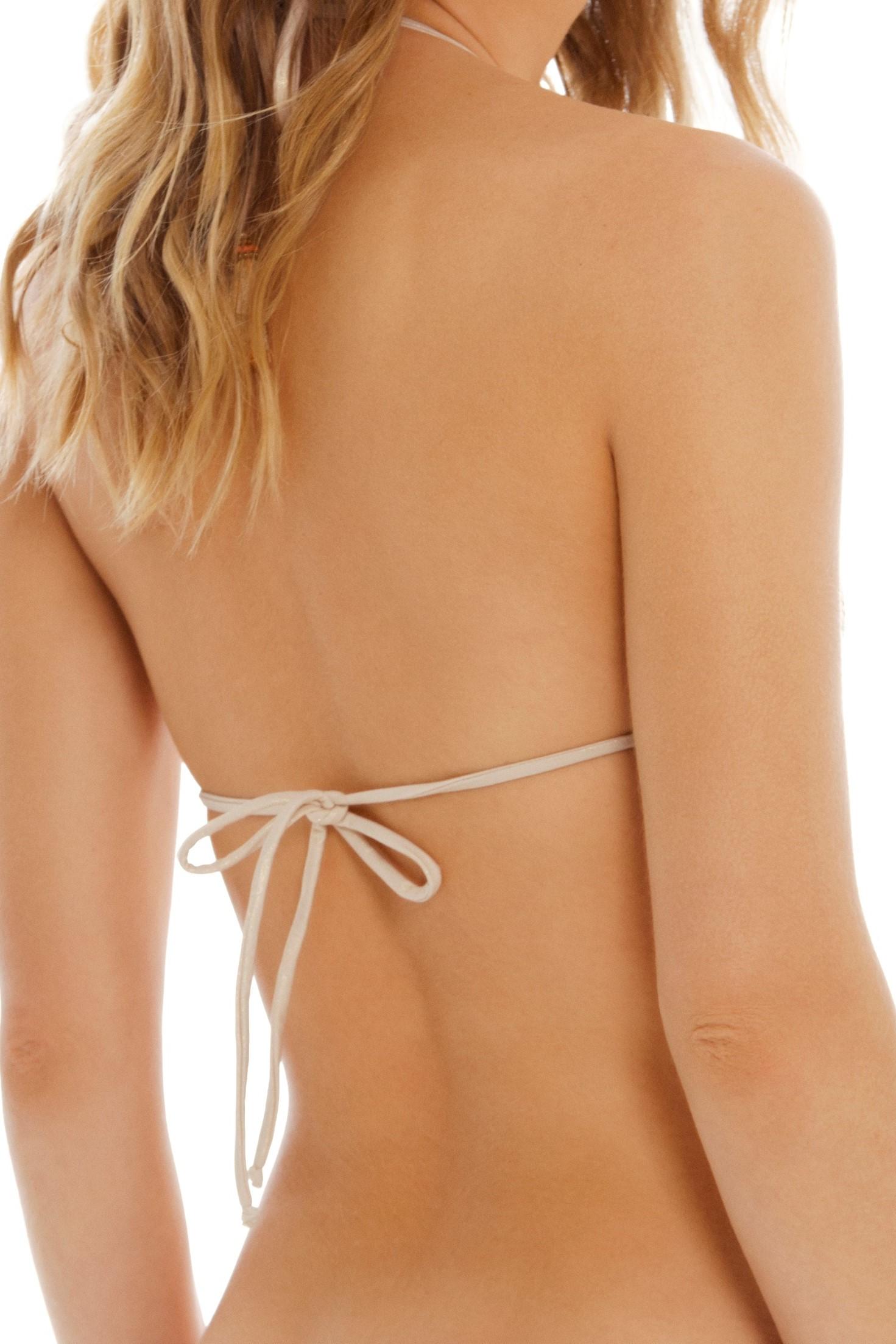 Cosita Linda Bohemian Traveler Triangle Bikini Top Gold
