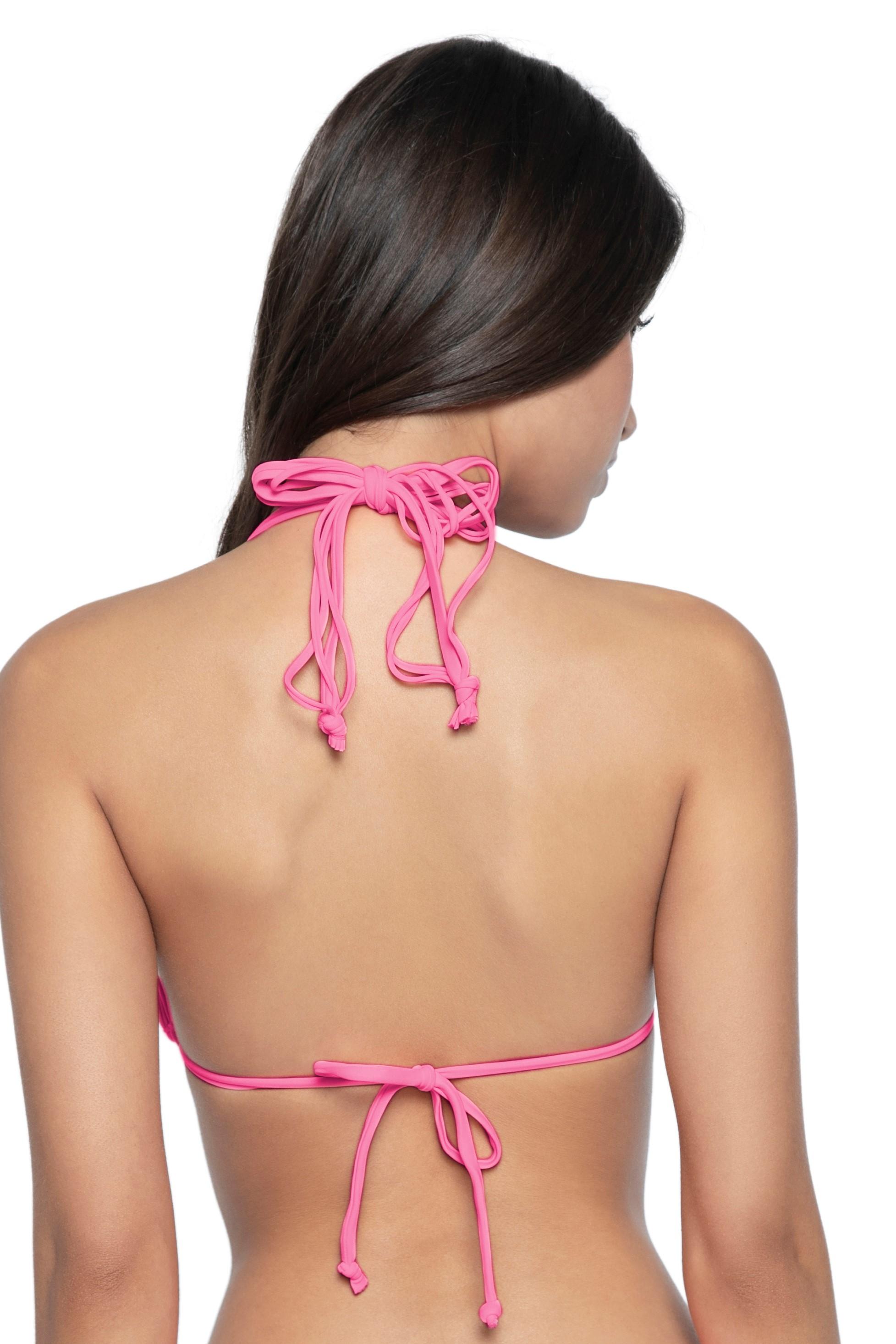 Pilyq Swim Pink Topaz Isla Triangle Bikini Top Pink