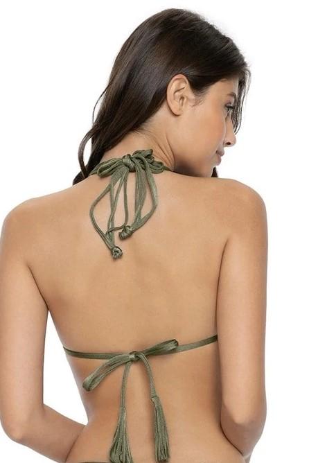 Pilyq Swim Moss Isla Triangel Bikini Top Khaki Groen