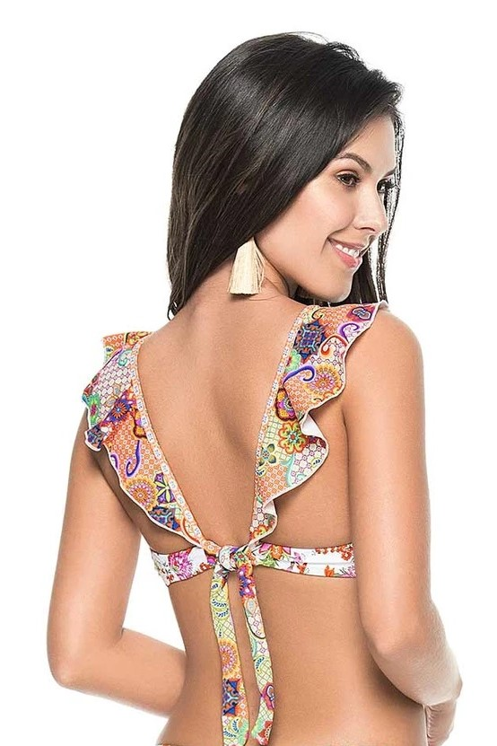 Phax Spring Fling Ruffle Bikini Top