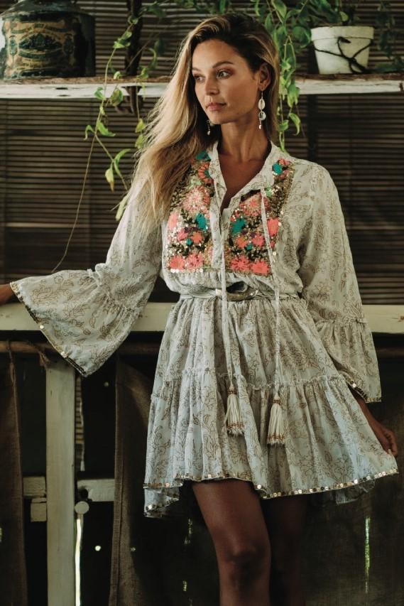 Miss June Short Summer Dress Carnaby-Uniek-Multicolour